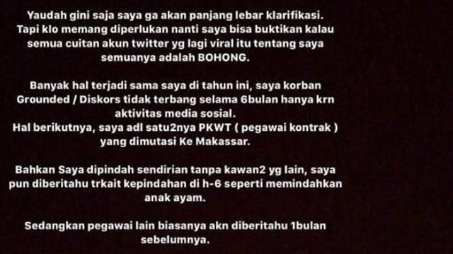 Klarifikasi Cyndyana Lorens, Adik Kriss Hatta Soal Isu Dirut Garuda (244905)