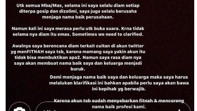 Klarifikasi Cyndyana Lorens, Adik Kriss Hatta Soal Isu Dirut Garuda (244907)