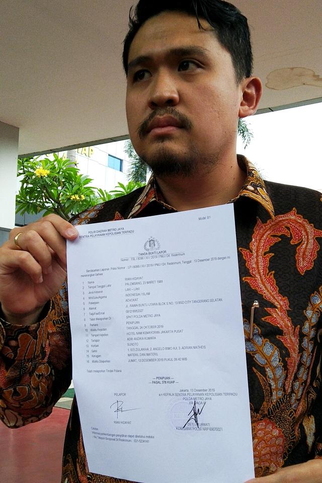 PTR, Atlet MMA Sunoto membuat laporan penipuan