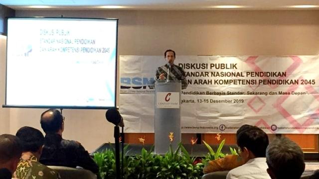 Mendikbud Nadiem Makarim, diskusi publik BSNP