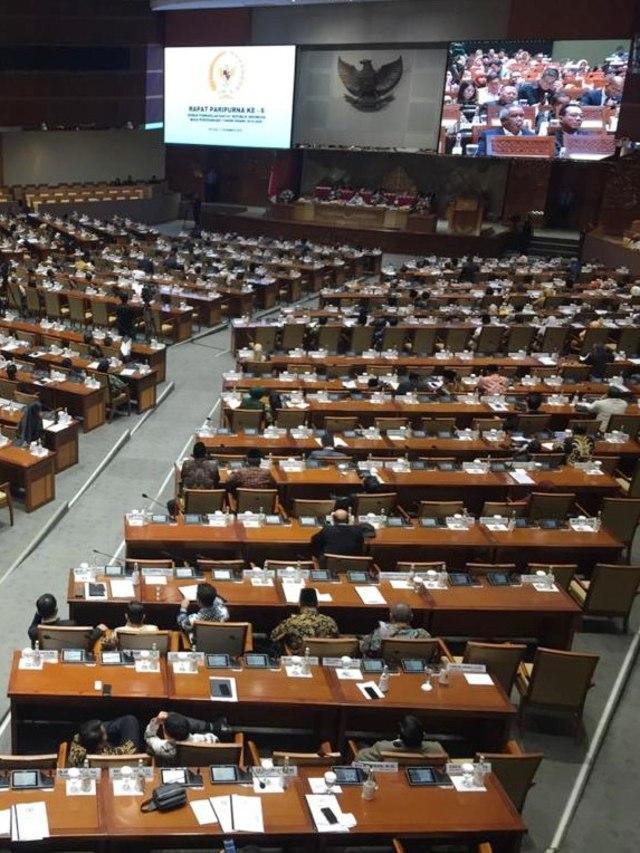 Rapat Paripurna penutupan masa sidang jelang Reses DPR, PTR