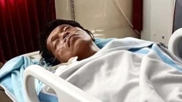 Adian Napitupulu saat terbaring di RSUD Doris