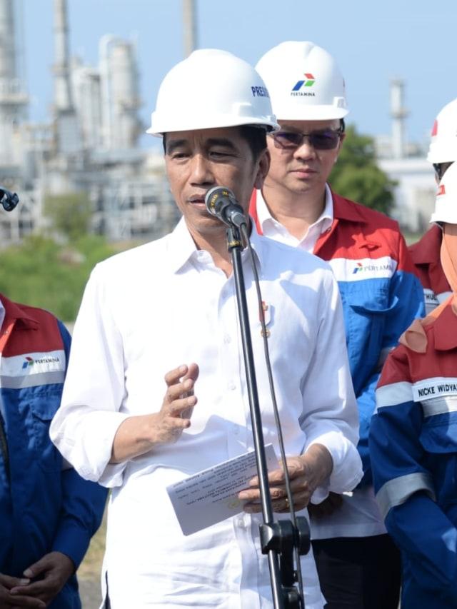 PTR, Jokowi meninjau kilang PT TPPI