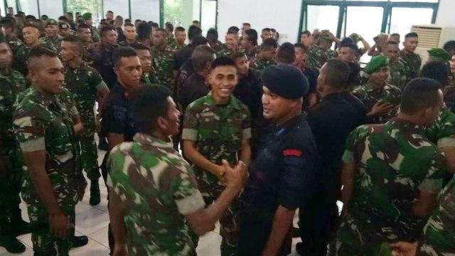 Mediasi dan Perdamaian Anggota TNI dan Brimob di Maluku