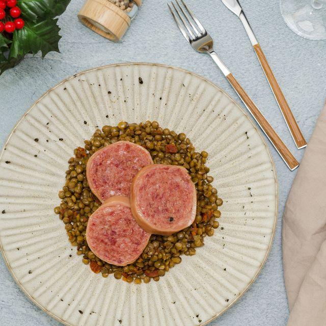 Cotechino con lenticchie khas Italia