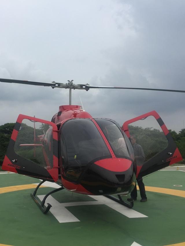 Helikopter milik PT Whitesky Aviation, POTRAIT