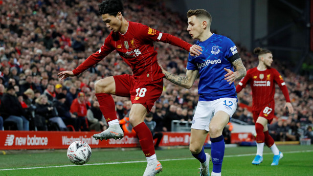 Minamino, Liverpool vs Everton
