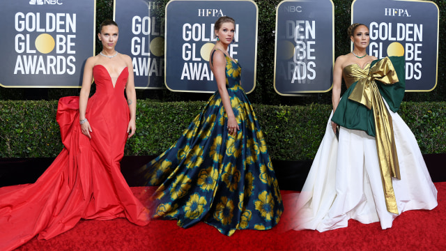 Parade Gaun Mewah Selebriti di Red Carpet Golden Globes 2020 (6261)