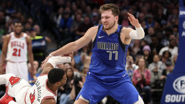 Pemain depan Dallas Mavericks Luka Doncic, Cover