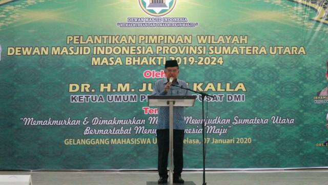 Jusuf Kalla, Pelantikan DMI Sumut