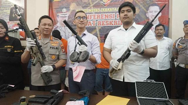 Senjata api ilegal, Polres Jaksel