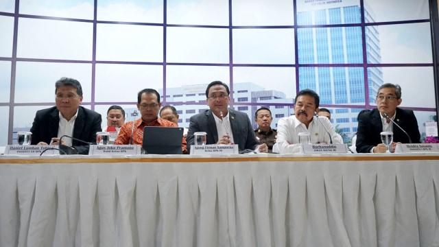 Konferensi pers BPK dan Kejagung