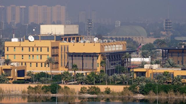 Kedutaan Besar AS di zona Hijau di Baghdad, Irak