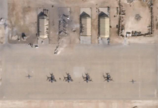 Foto satelit Pangkalan udara Al Asad di Irak, Iran