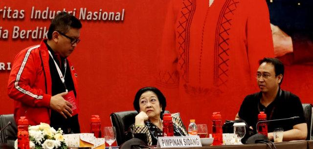 LIPSUS SUAP KPU, Megawati, Rapat di Rakernas