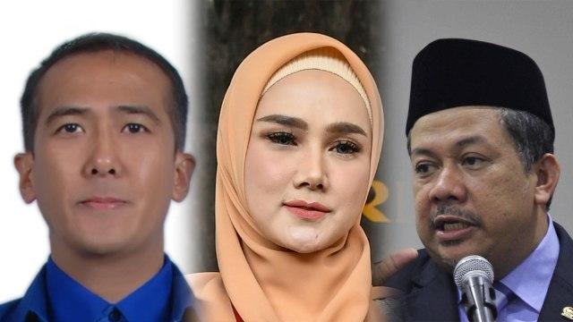 Harun Masiku, Mulan Jameela dan Fahri Hamzah.