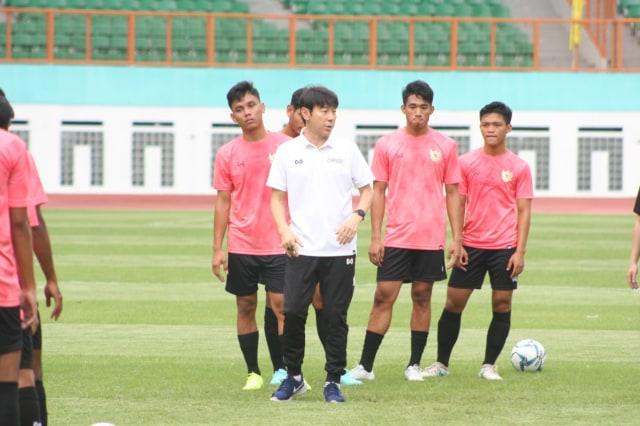 Latihan Timnas Indonesia u-19, Shin Tae-yong