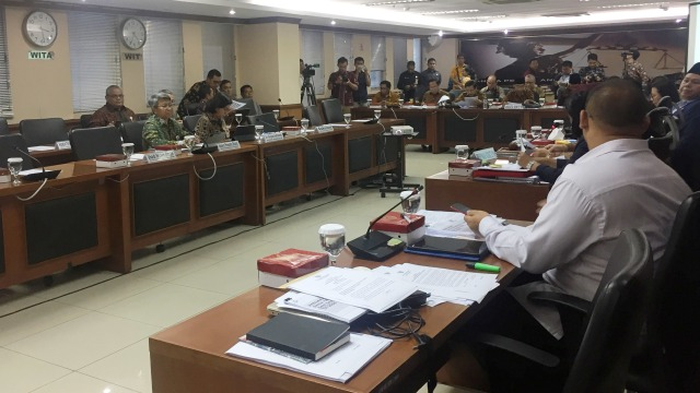 Rapat Menteri Keuangan Sri Mulyani dengan DPD RI
