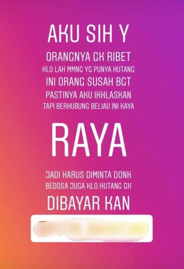 Waket PDIP Medan Nilai Hakim Berat Sebelah soal Vonis Tagih Utang di Instastory (3)