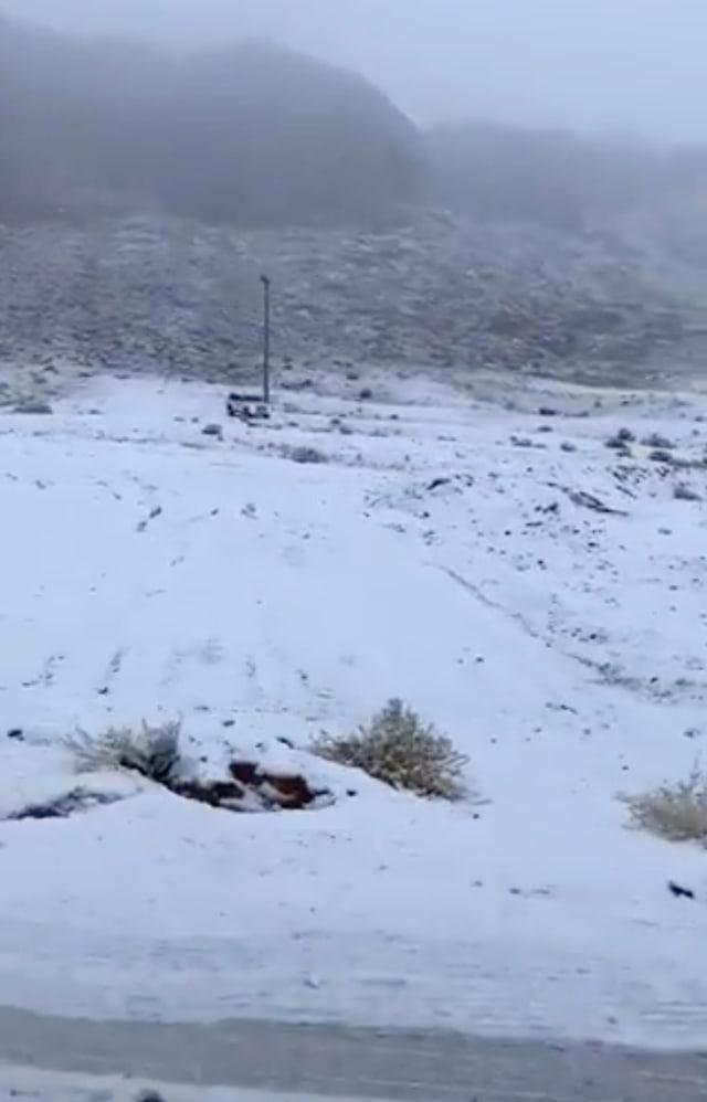 PTR, Salju di tabuk, Arab Saudi