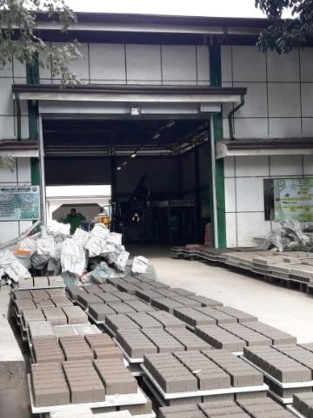 PTR, pembuatan batu bata dari abu vulkanik di filipina
