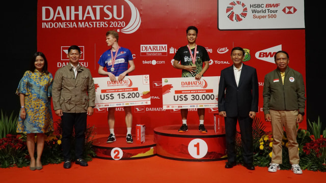 Indonesia Masters 2020, Anthony Ginting