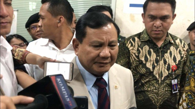 Prabowo Subianto di DPR