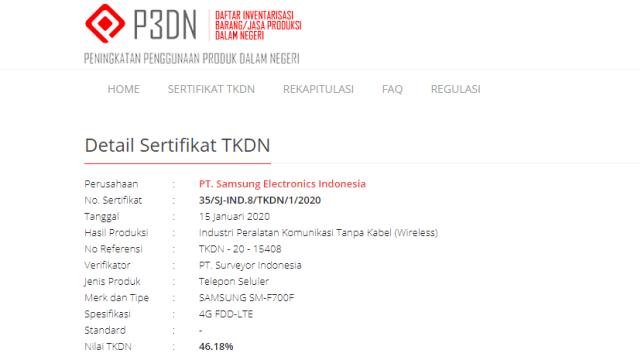 TKDN Samsung Galaxy Flip Z