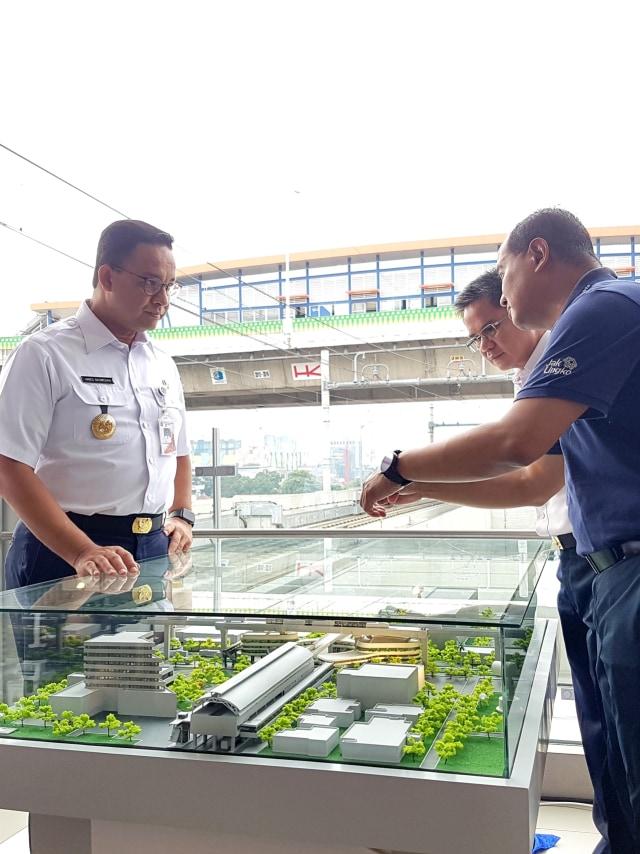 PTR, Anies Baswedan, integrasi antara TransJakarta dan MRT