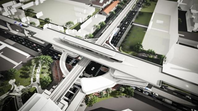 integrasi antara TransJakarta dan MRT