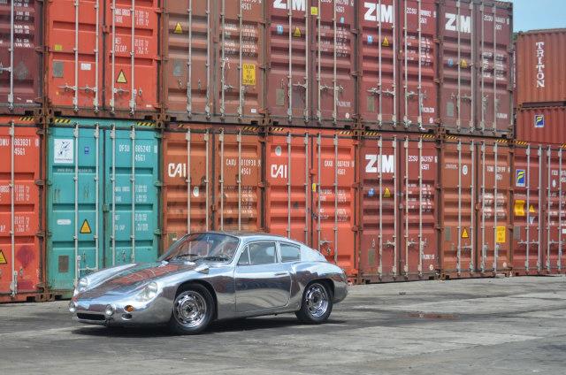Ubah Die-Cast Jadi Replika Porsche 356b Abarth Aluminium (89636)