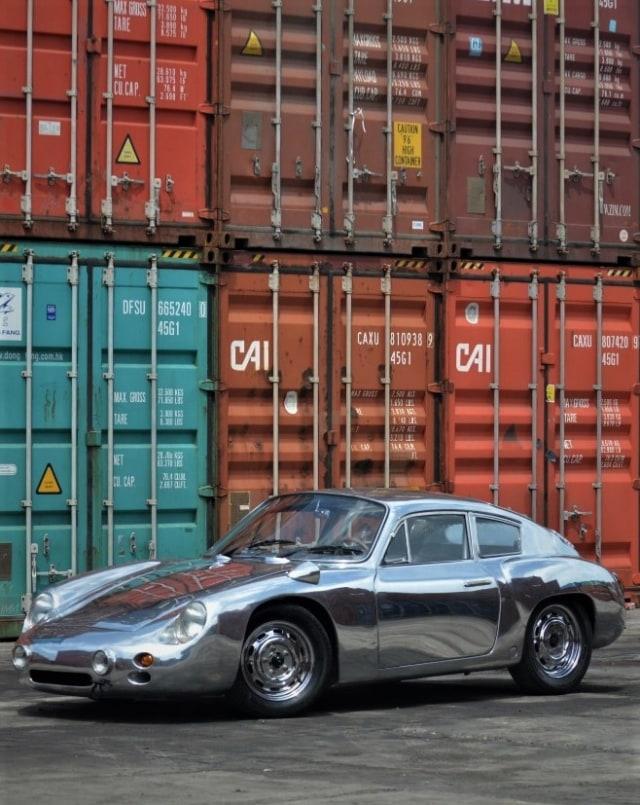 Ubah Die-Cast Jadi Replika Porsche 356b Abarth Aluminium (89631)