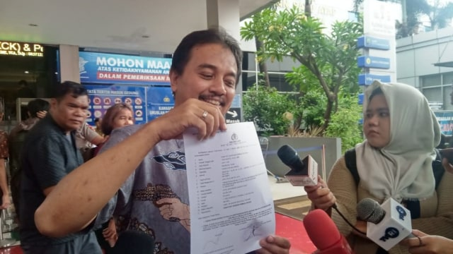 Roy Suryo di Polda Metro Jaya