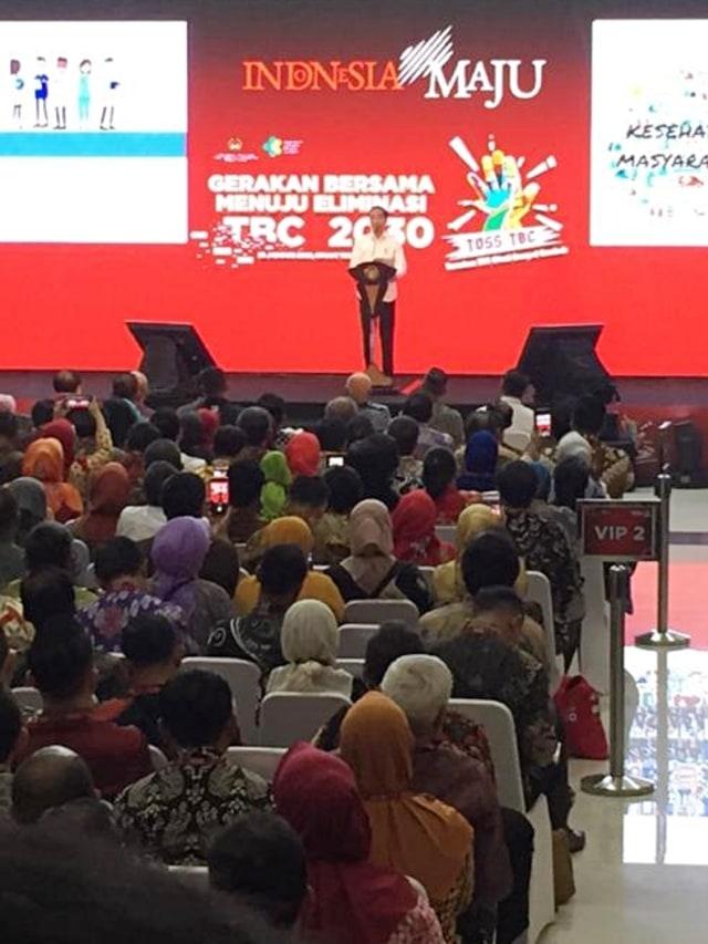 PTR, Jokowi, Gerakan Bersama Menuju Eliminasi TBC 2020