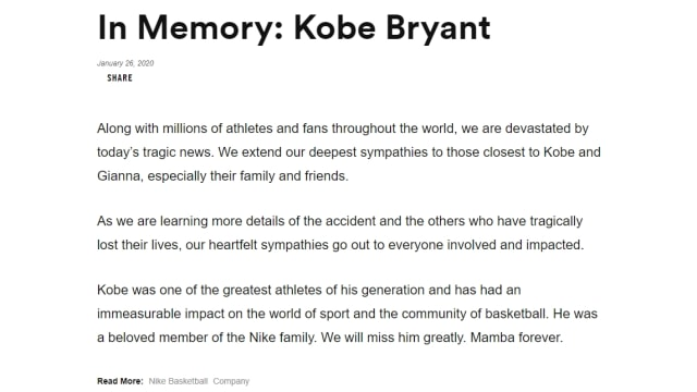 Nike Sebut Kehabisan Koleksi Sneakers Kobe Bryant  (13106)