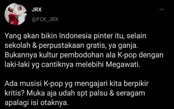 Gara-gara Cuitan Ganja dan K-Pop, Akun Twitter Jerinx SID  Disuspend (138290)