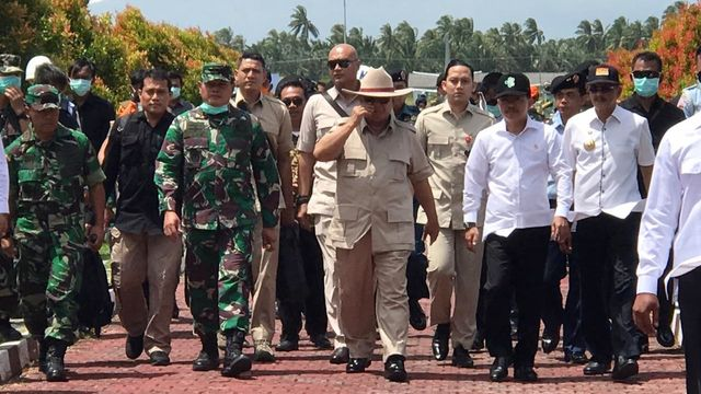 Prabowo Subianto kunjungi lokasi observasi WNI di Natuna