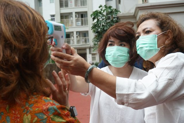 Sosialisasi pencegahan virus corona di Apartemen Mediterania