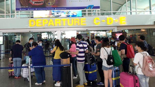 Suasana di Bandara internasional I Gusti Ngurah Rai