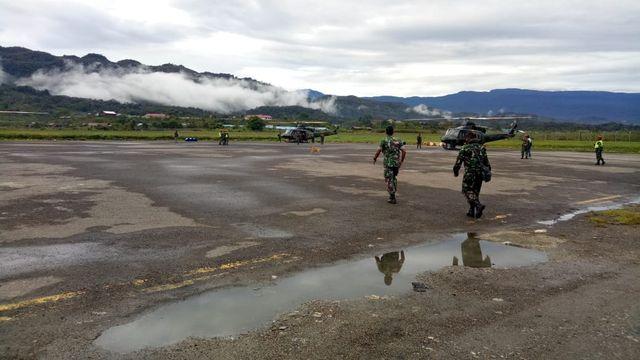 TNI Berangkatkan tim untuk evakuasi Helikopter MI-17