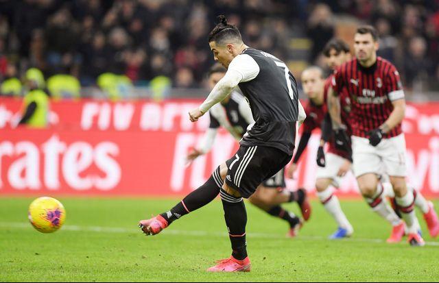 Cristiano Ronaldo Juventus vs Milan