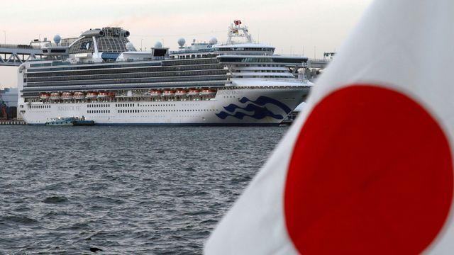 Diamond Princess yang bersandar di Tokyo Jepang