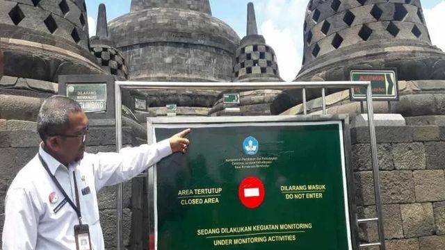 Penutupan lantai 9 dan 10 Candi Borobudur