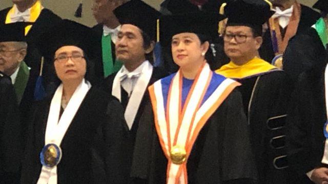 Puan Maharani saat Penganugrahan Gelar DHC di UNDIP Semarang