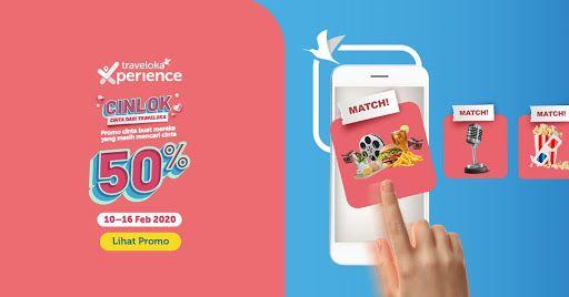 Traveloka Experience promo Valentine