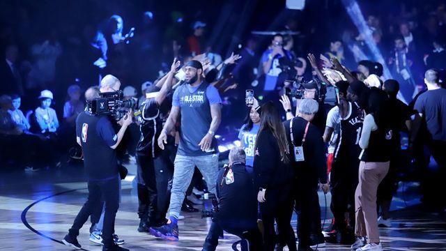 NBA All-Star 2020 Latihan Tim LeBron James