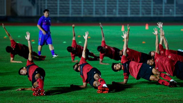 Latihan FIsik Timnas Indonesia