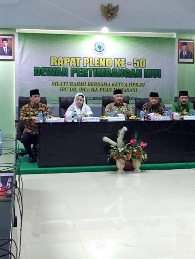 Di MUI, Puan Kenang Amanat Taufiq Kiemas ke Din Syamsuddin untuk Membimbingnya (8044)