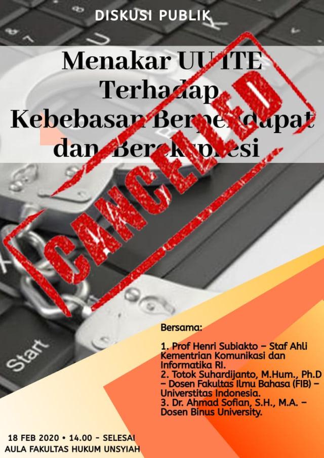 Batalkan Diskusi UU ITE, Staf Ahli Kominfo Kritik FH Unsyiah  (201573)
