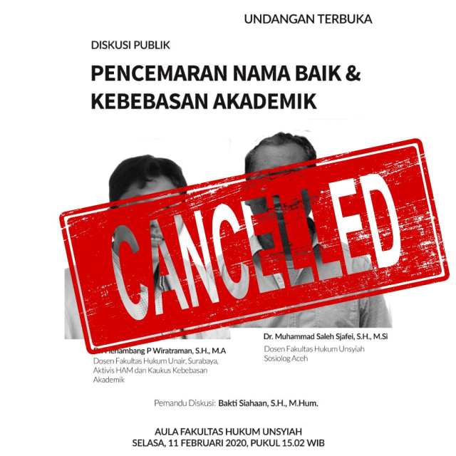 Batalkan Diskusi UU ITE, Staf Ahli Kominfo Kritik FH Unsyiah  (201575)